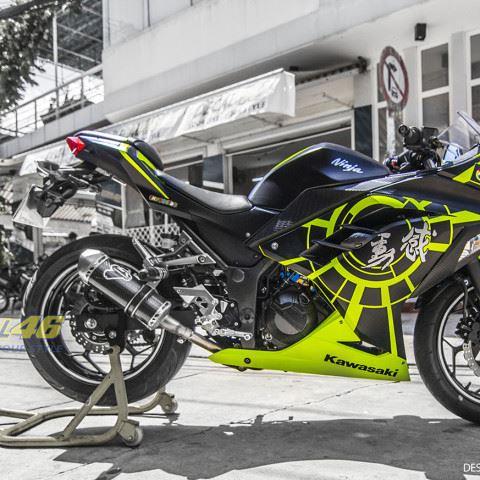 Tem xe PKL - Tem xe Ninja 300 thiết kế Rossi