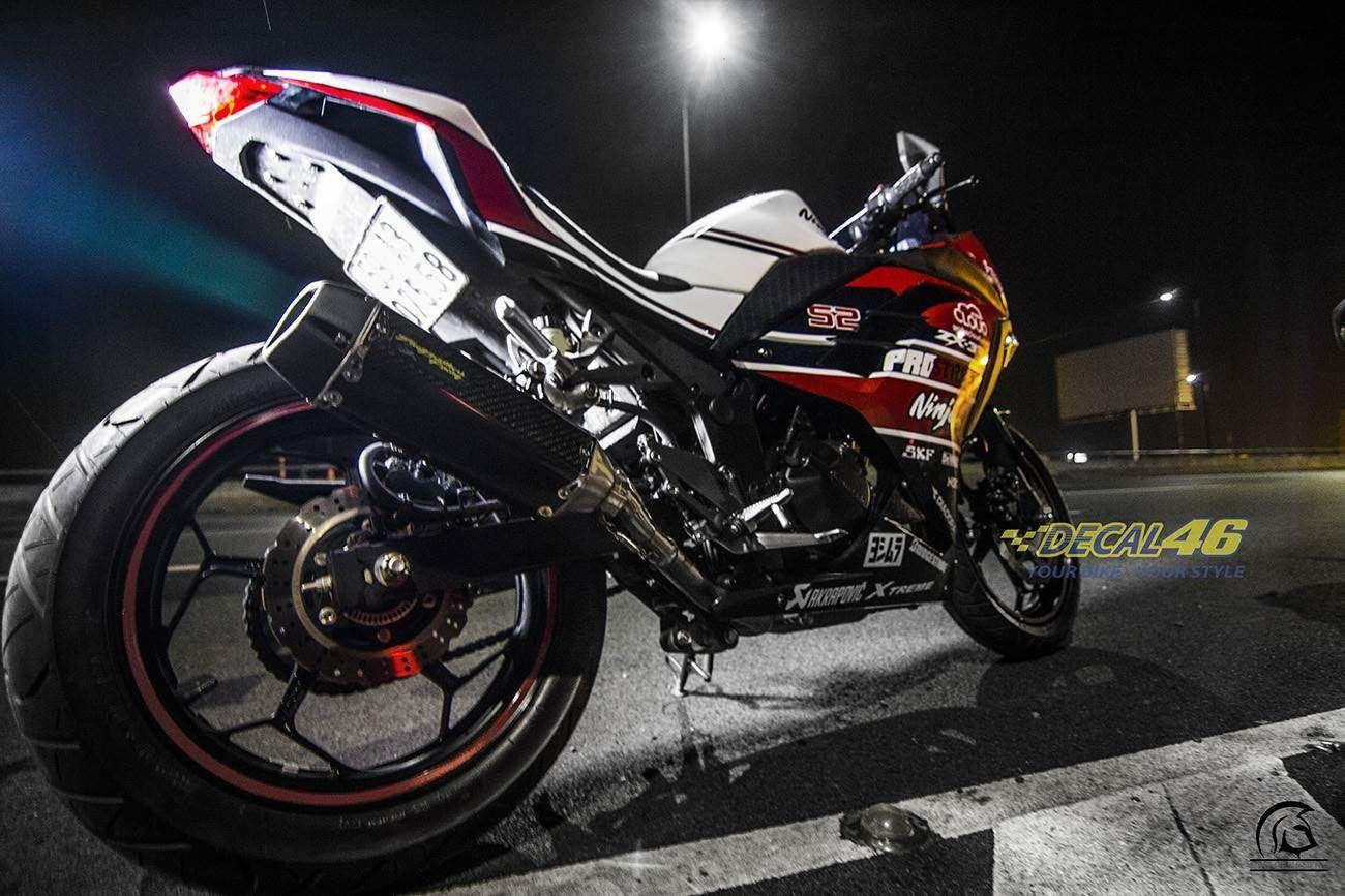 Tem xe PKL - Tem xe Ninja 300 thiết kế Duca