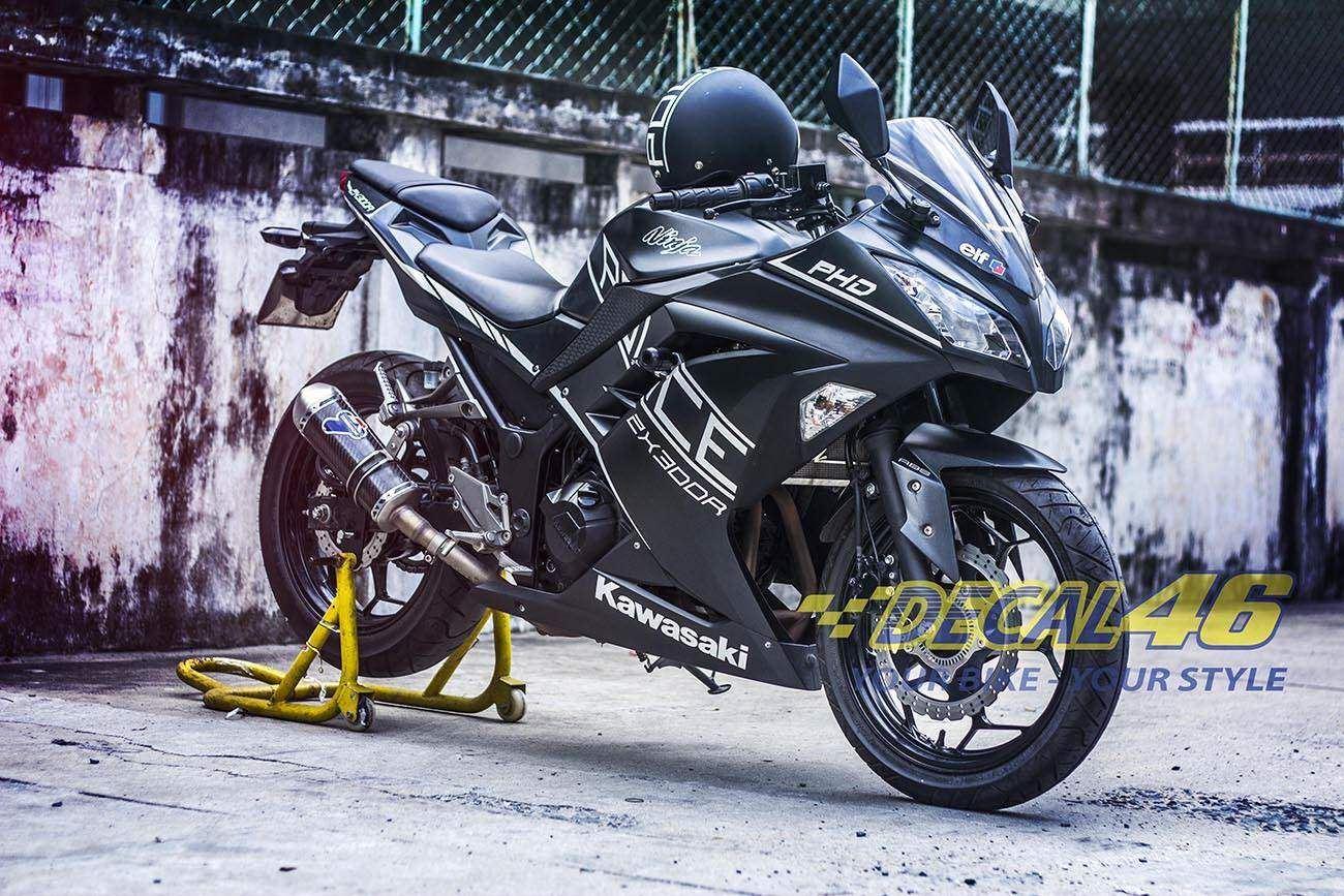 Tem xe PKL - Tem xe Ninja 300 thiết kế Police