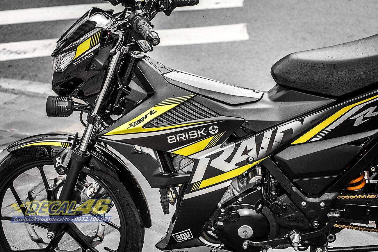 Tem xe Raider 150 - 021 - Tem xe thiết kế Sprisk