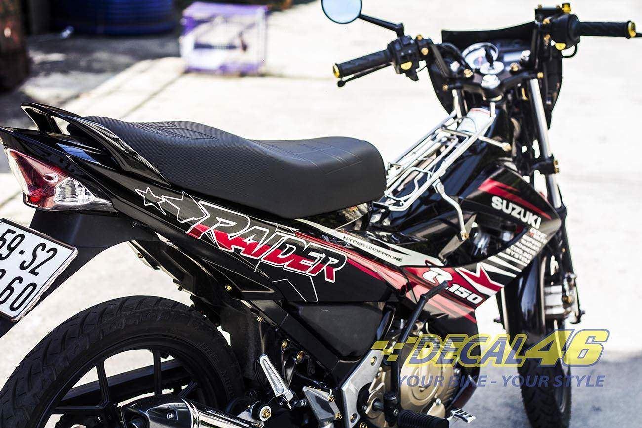 Tem xe Raider 150 - 025 - Tem xe thiết kế Zin