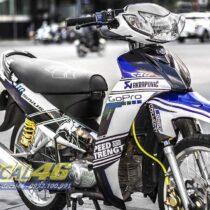 Tem xe Yamaha Sirius - 185 - Tem xe thiết kế Go Pro trắng xanh