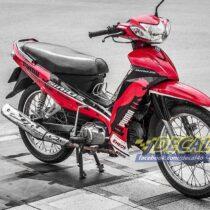 Tem xe Yamaha Sirius - 187 - Tem xe thiết kế Puma đỏ đen