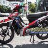 Tem xe Yamaha Sirius - 193 - Tem xe thiết kế Rossi đỏ đen