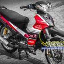 Tem xe Yamaha Sirius – 189 – Tem xe thiết kế Yamaha đỏ đen
