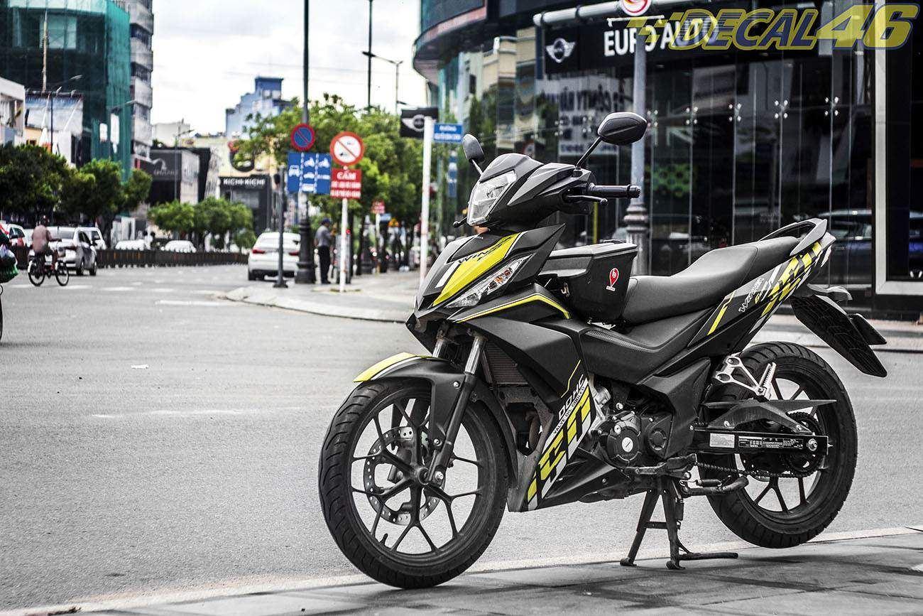 Tem xe Winner 150 - 176 - Tem xe thiết kế Speed vàng đen