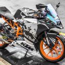 Tem xe KTM – RC – Tem xe thiết kế Redbull bạc xước