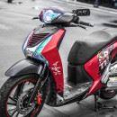 Tem xe Honda SH 150 Italia – Tem xe thiết kế Marquez đỏ đen