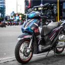 Tem xe Honda SH 150 Italia – Tem xe thiết kế Light đen