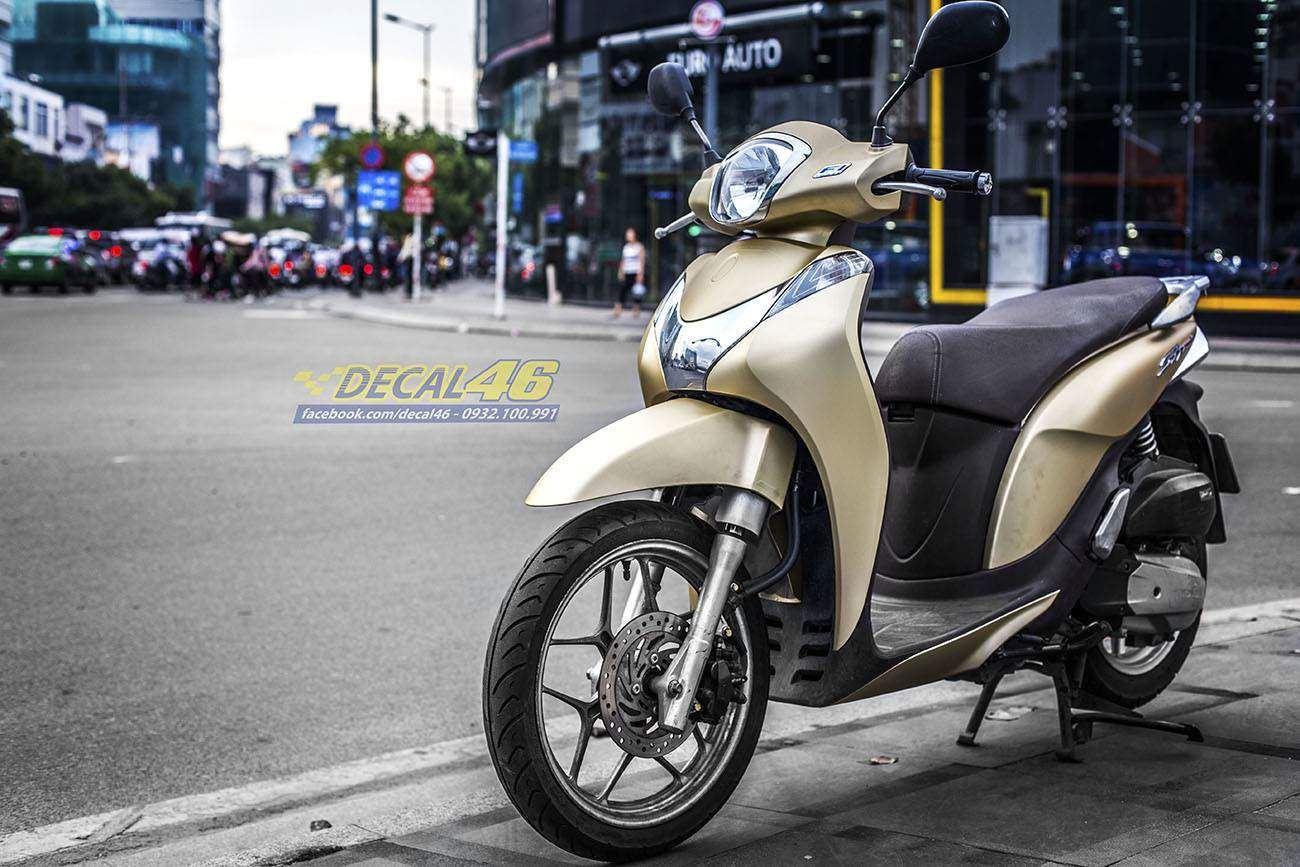 Tem xe Honda SH 150 Italia - Tem xe thiết kế Vàng đồng