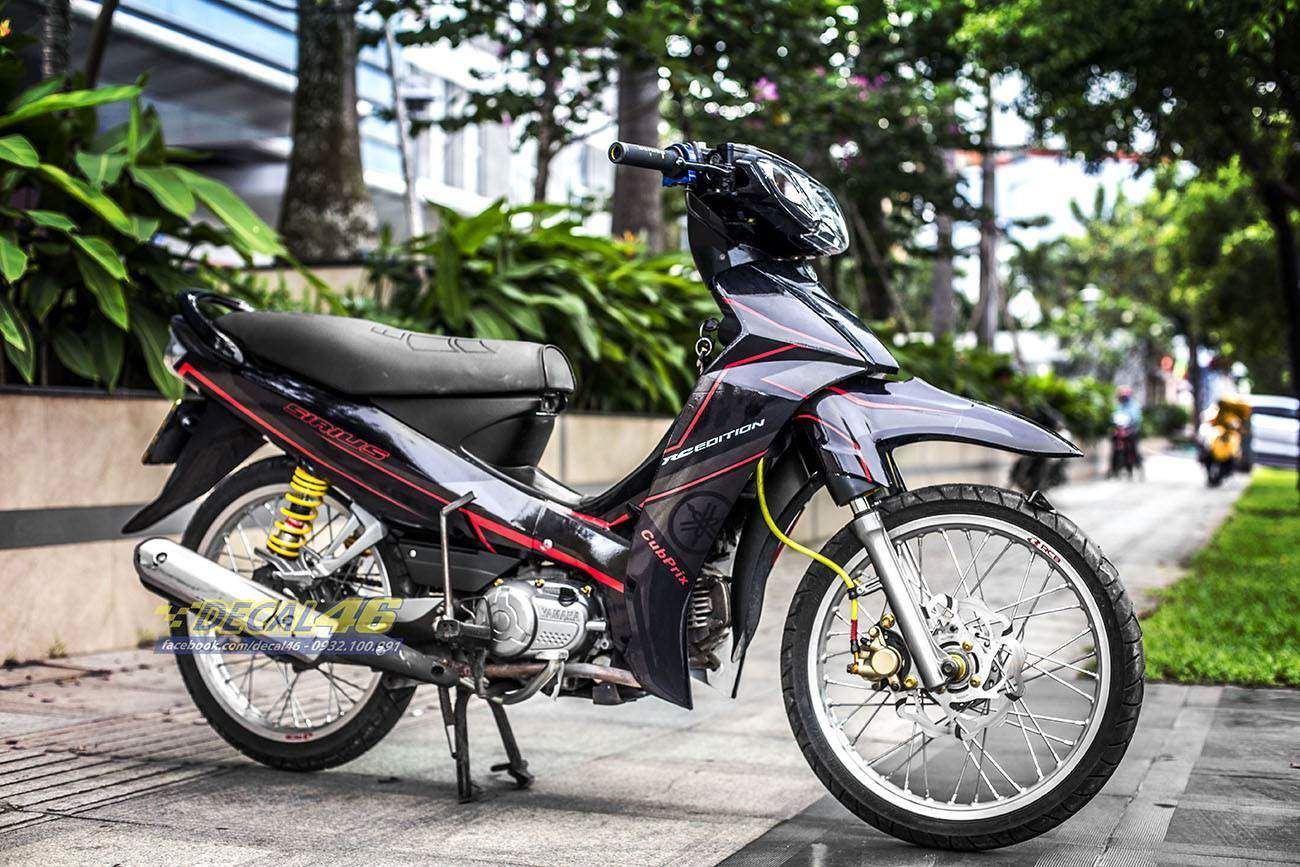 Tem xe Yamaha Sirius - 201 - Tem xe thiết kế Light đỏ