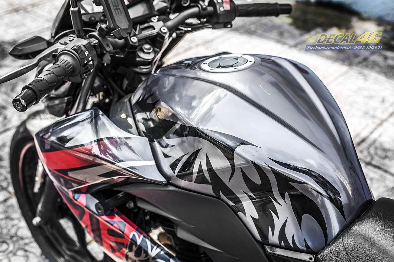 Tem xe PKL - Tem xe Z300 thiết kế Sói xám đen