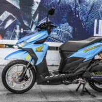 Tem xe Honda Click - 007 - Tem xe thiết kế xanh ngọc