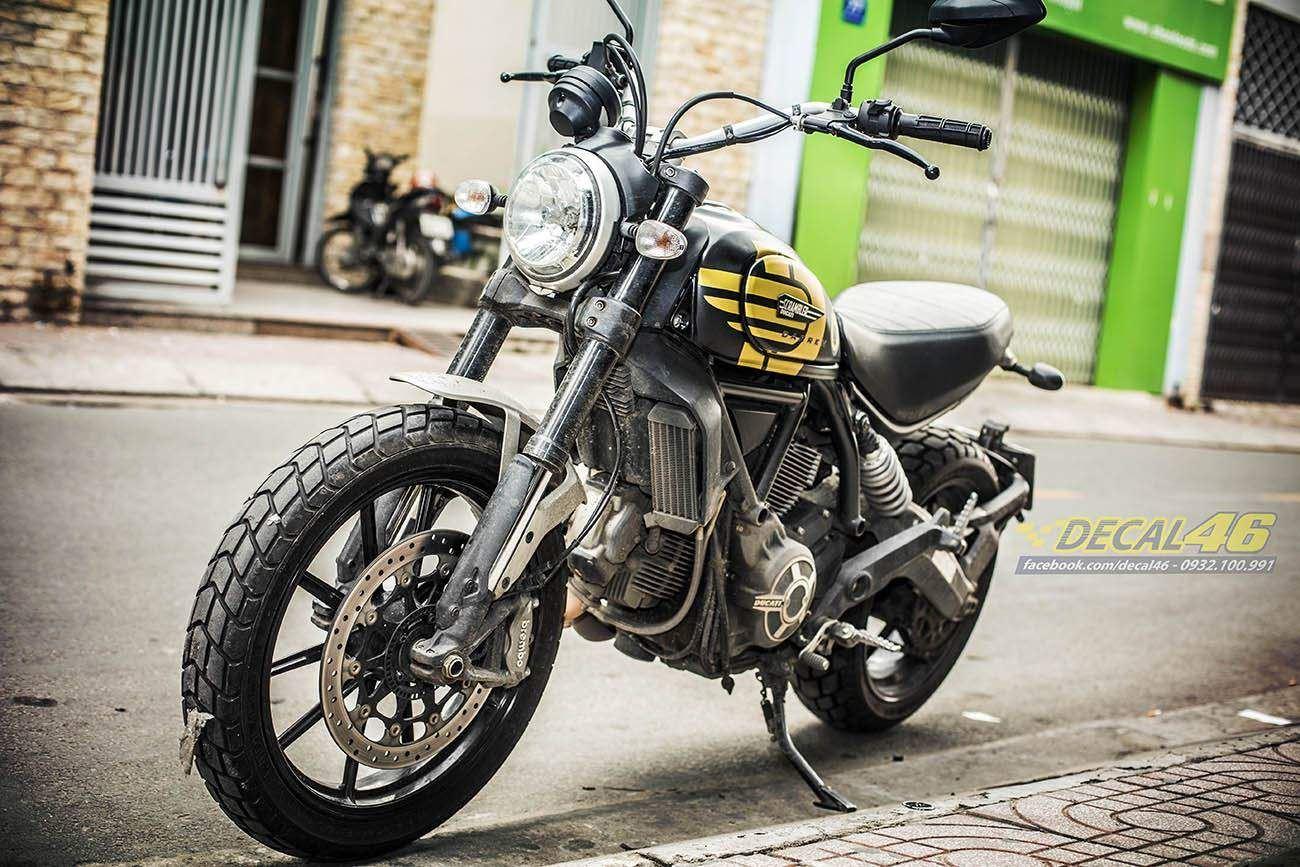 Tem xe PKL - Tem xe Ducati thiết kế đen vàng