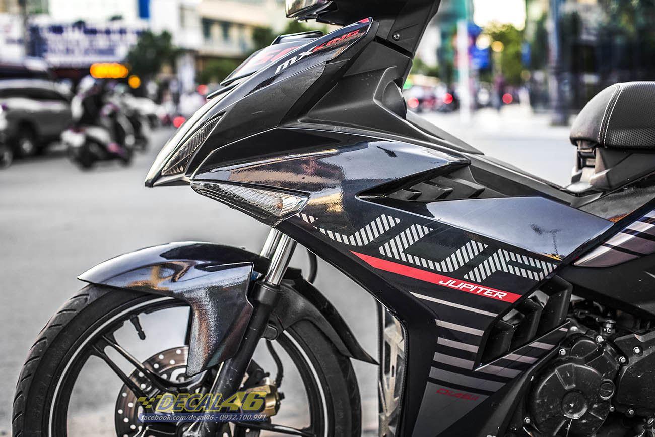 Tem xe Exciter 150 – 318 – Tem xe thiết kế MX King Indo đỏ đen