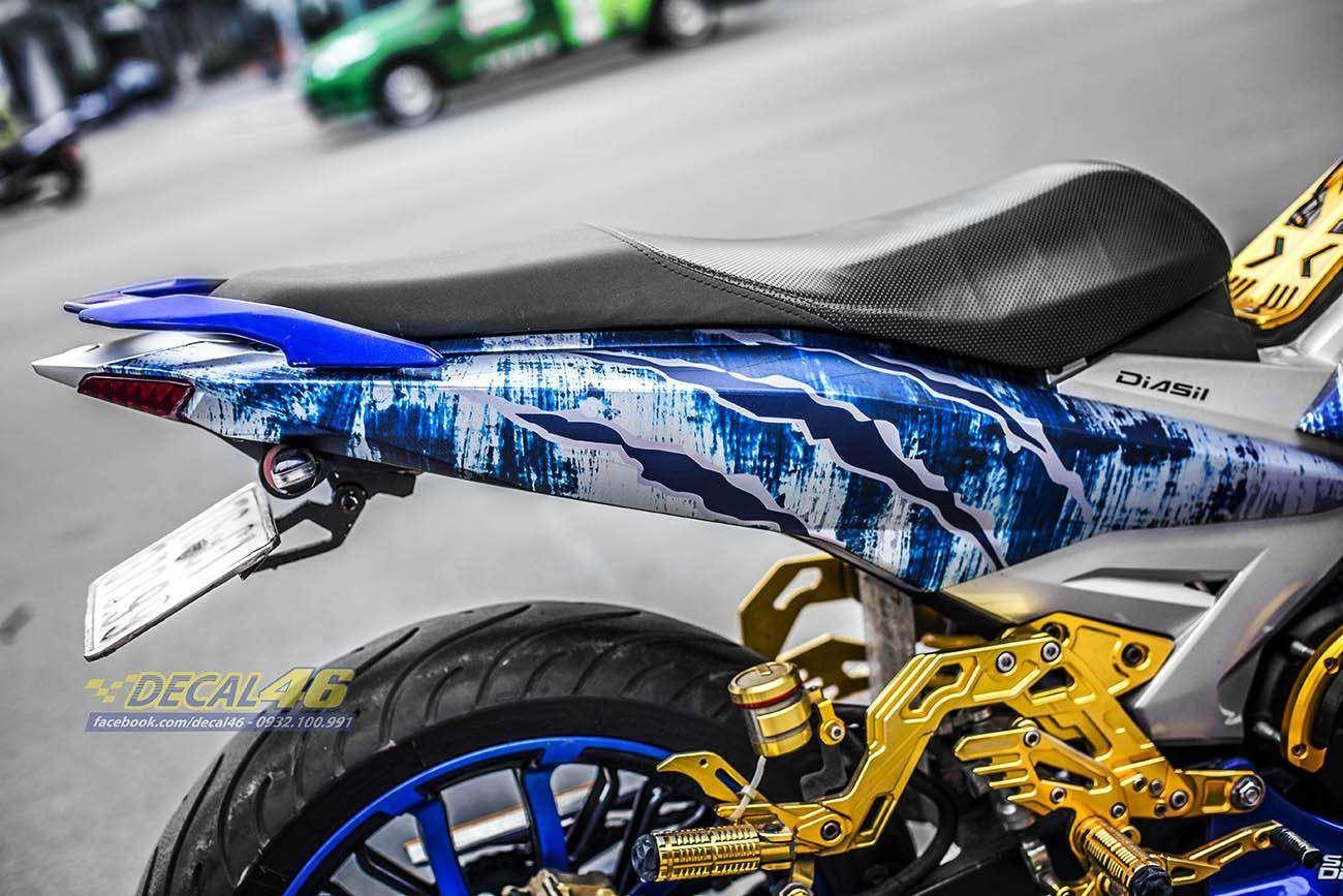 Tem xe Exciter 150 – 309 – Tem xe thiết kế Rỉ sét xanh bạc