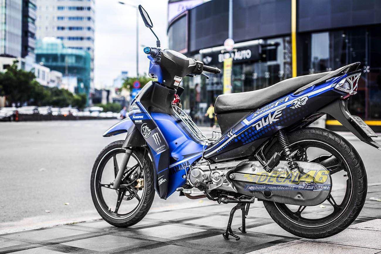 Tem xe Yamaha Sirius - 205 - Tem xe thiết kế Duke xanh đen