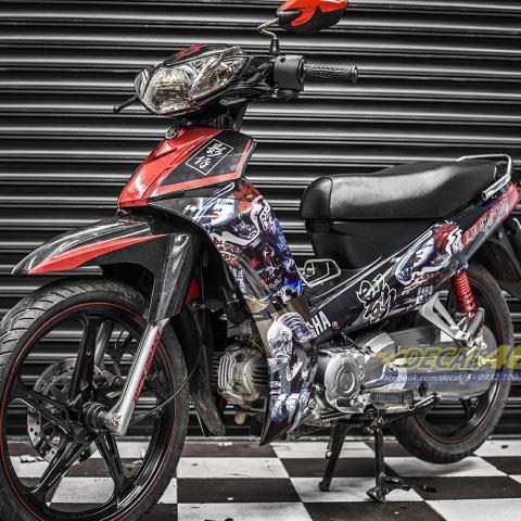 Tem xe Yamaha Sirius - 202 - Tem xe thiết kế Samurai