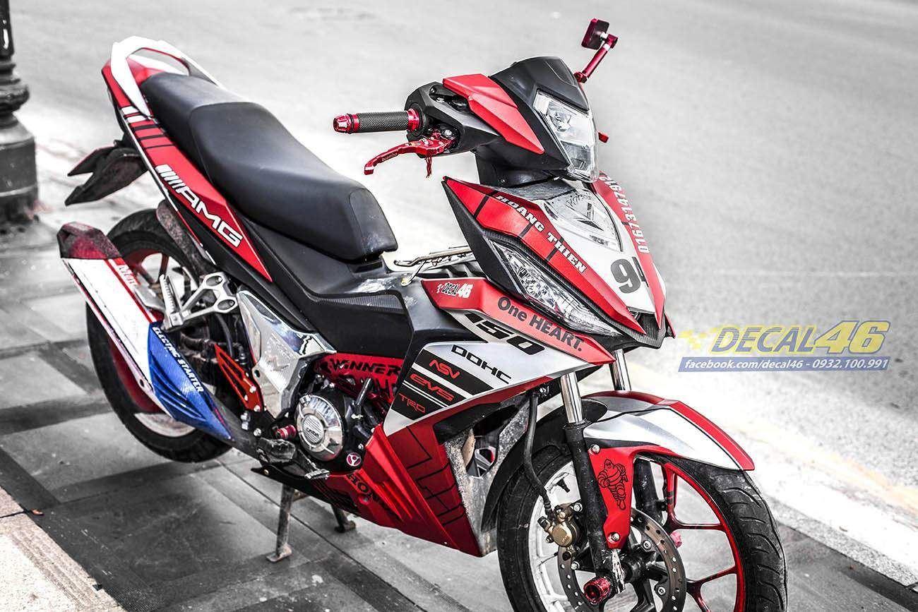Tem xe Winner 150 - 208 - Tem xe thiết kế AMG đỏ đen