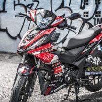 Tem xe Winner 150 - 192 - Tem xe thiết kế Ducati đỏ đen