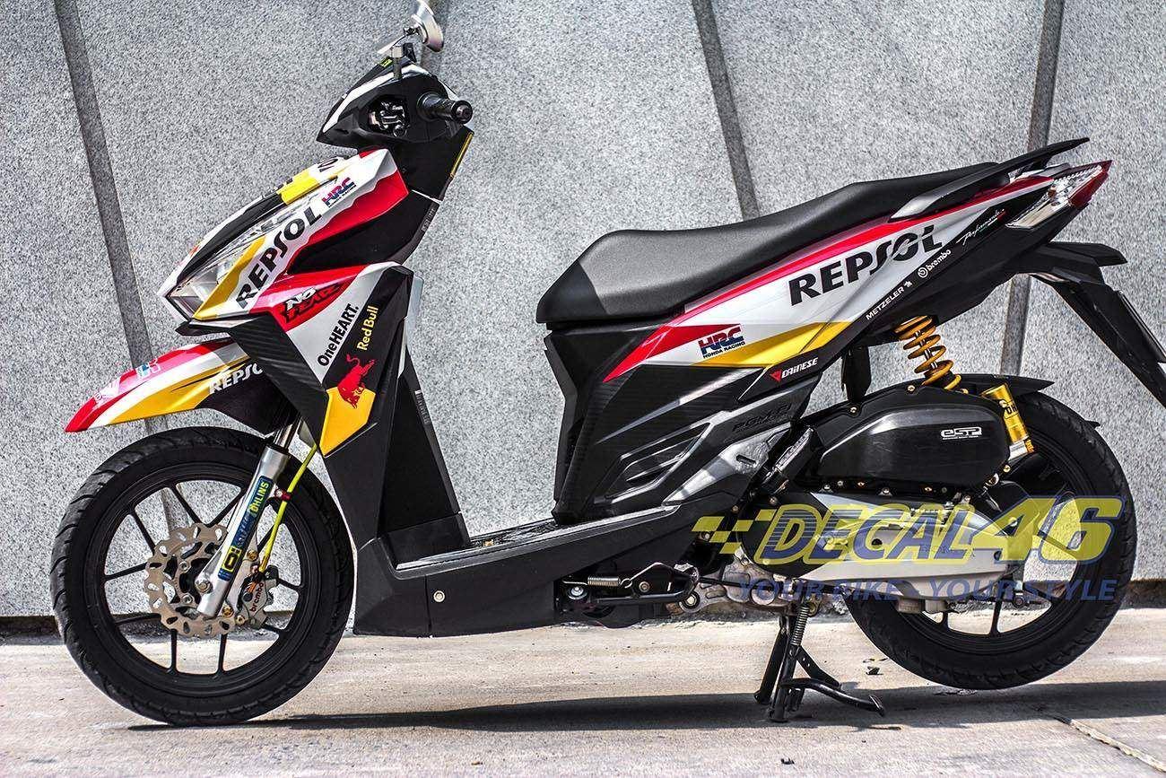 Tem xe Honda Click - 012 - Tem xe thiết kế Repsol