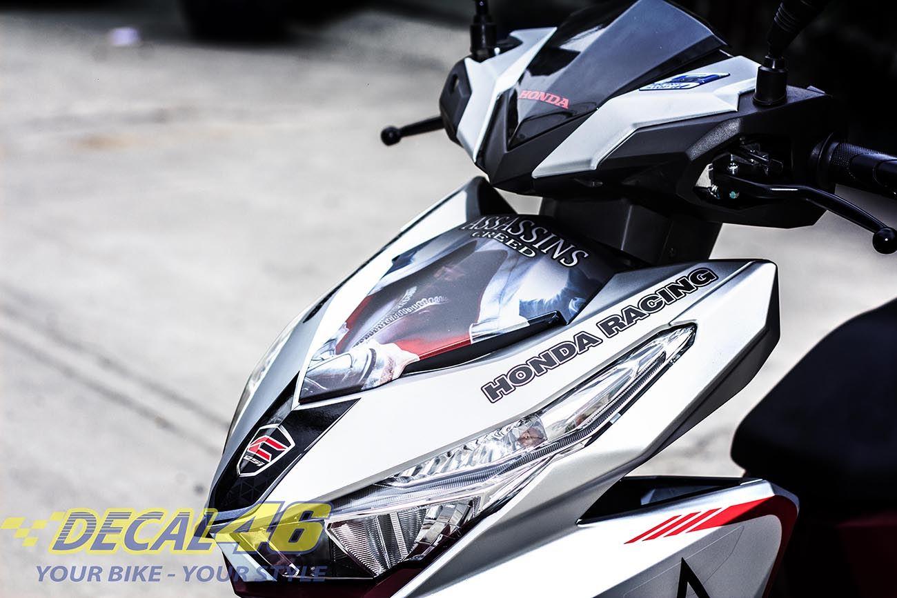 Tem xe Honda Click - 010 - Tem xe thiết kế Assasin