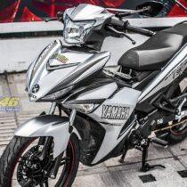 Tem xe Exciter 150 – 334 – Tem xe thiết kế Yamaha trắng đen