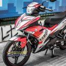 Tem xe Exciter 150 – 337 – Tem xe thiết kế Yamaha nhôm trắng đỏ