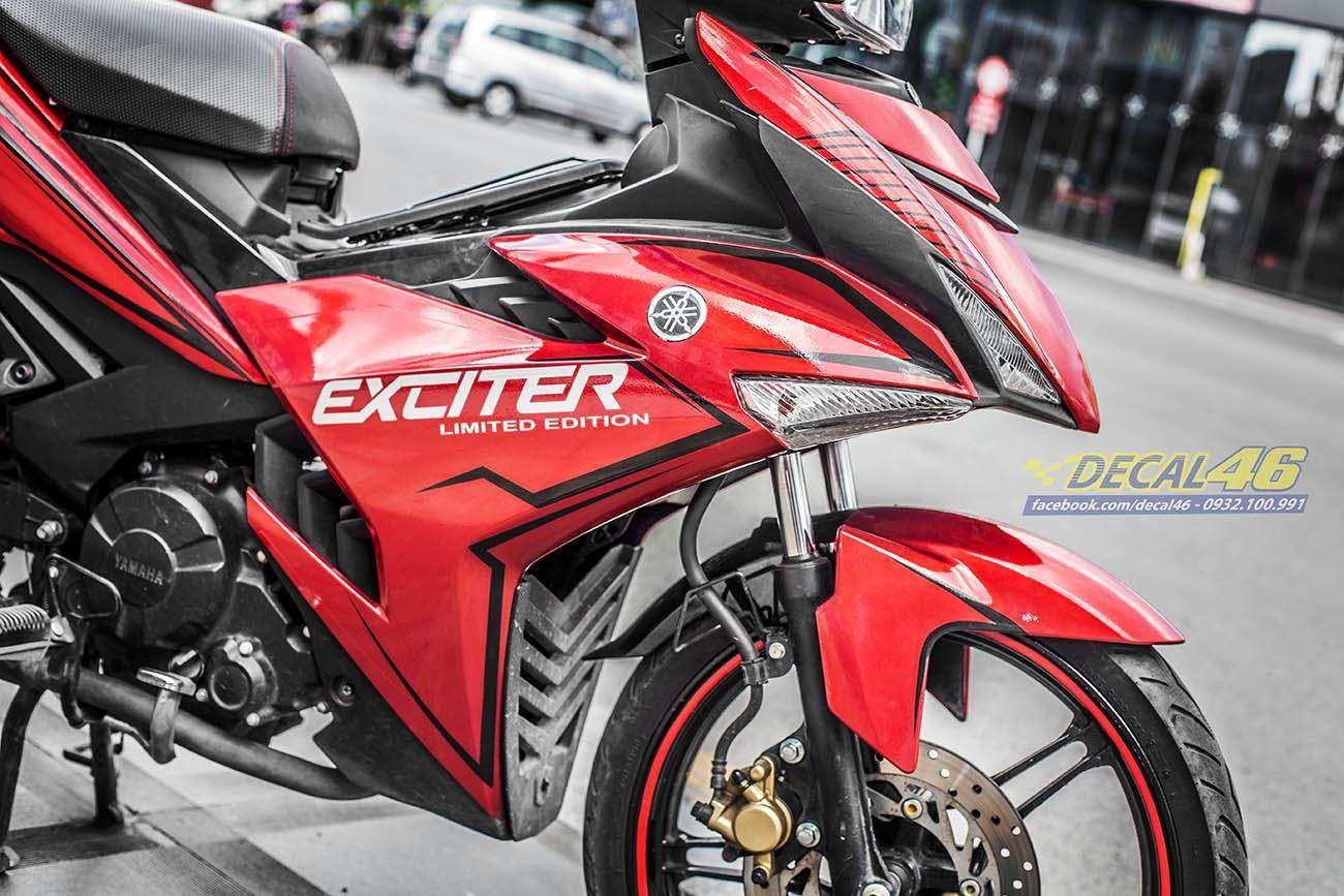 Tem xe Exciter 150 – 322 – Tem xe thiết kế Light đỏ đen