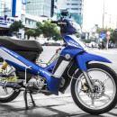 Tem xe Yamaha Sirius – 207 – Tem xe thiết kế Simple xanh trắng