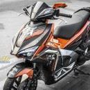 Tem xe Honda Airblade 2016 – 043 – Tem xe thiết kế Racing cam đen
