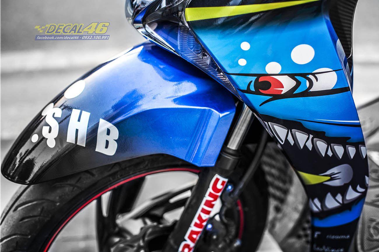 Tem xe Honda SH 150 Italia - Tem xe thiết kế Shark