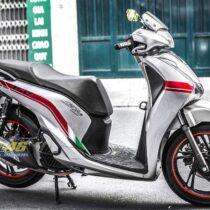 Tem xe Honda SH 150 Italia - Tem xe thiết kế đơn giản đỏ