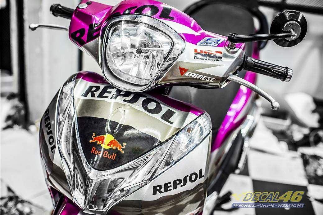 Tem xe Honda SH 150 Italia - Tem xe thiết kế Repsol
