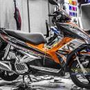 Tem xe Honda Airblade 125 – 038 – Tem xe thiết kế candy cam đen zin
