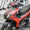 Tem xe Honda Airblade 125 - 039 - Tem xe thiết kế Black Edition đỏ đen xước