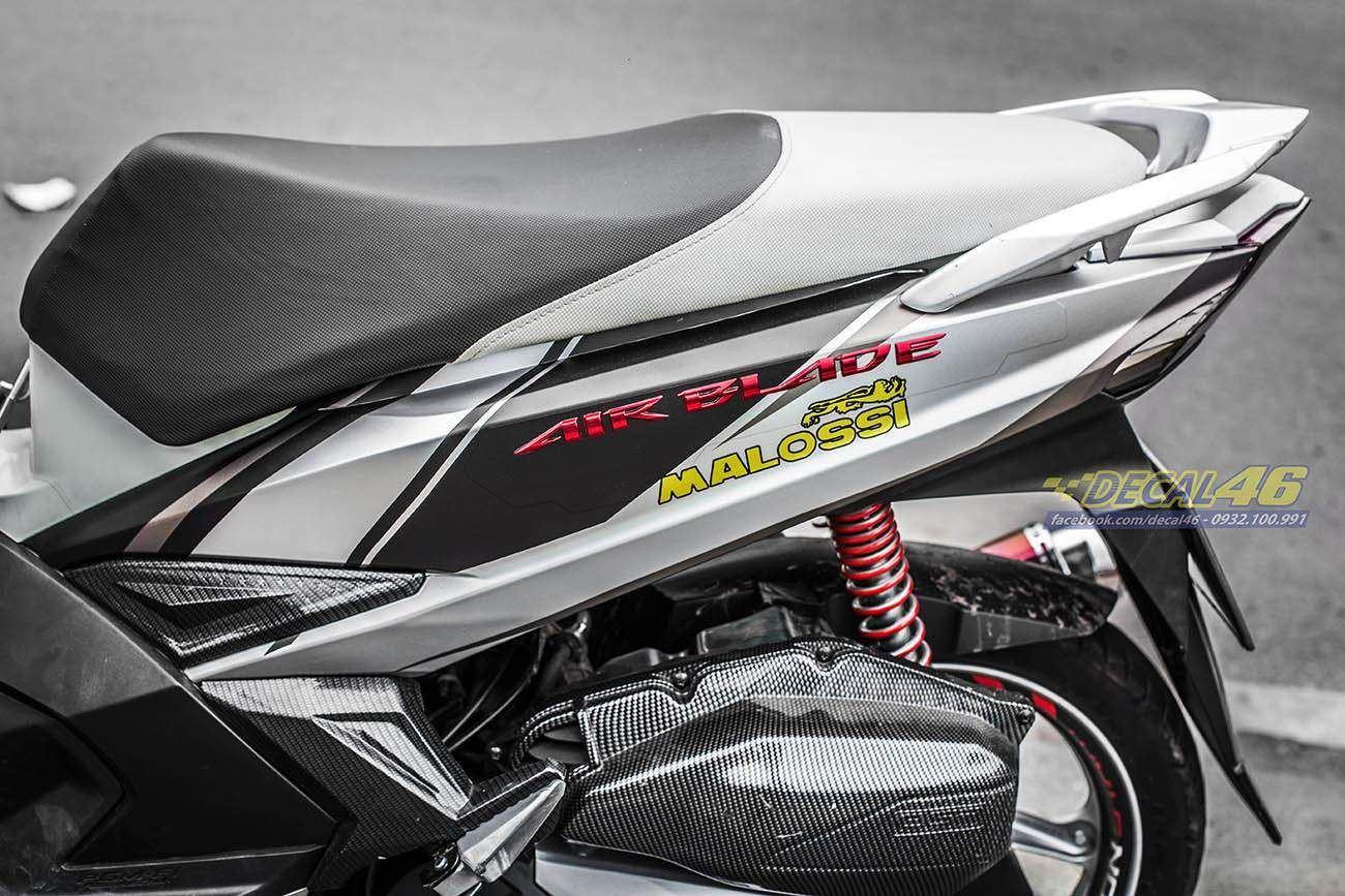 Tem xe Honda Airblade 2016 - 041 - Tem xe thiết kế đen bạc