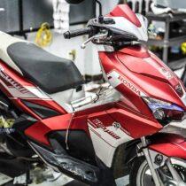 Tem xe Honda Airblade 2016 - 042 - Tem xe thiết kế Police dubai đỏ bạc