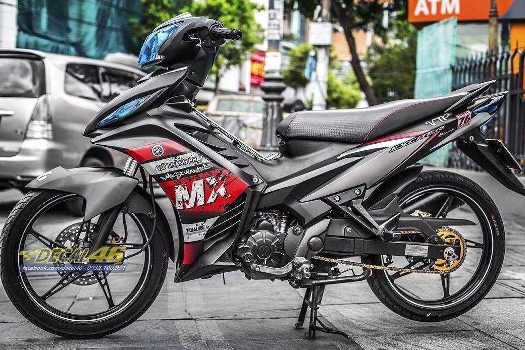 Tem xe Exciter 135 - 207 - Tem xe thiết kế nhôm đen đỏ MX