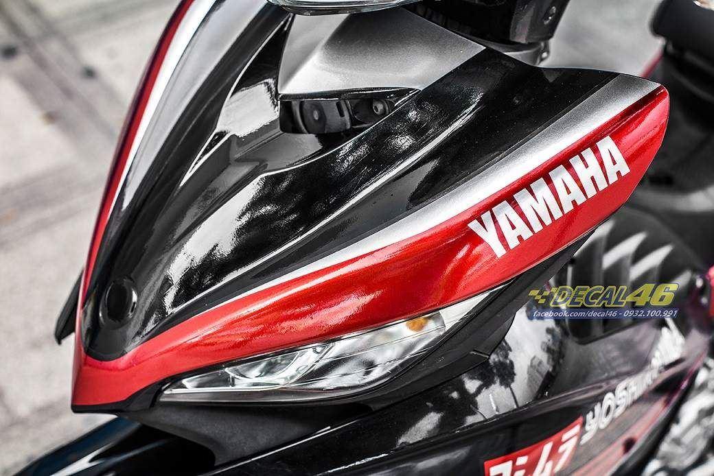 Tem xe Exciter 135 - 202 - Tem xe thiết kế Yoshimura đỏ đen