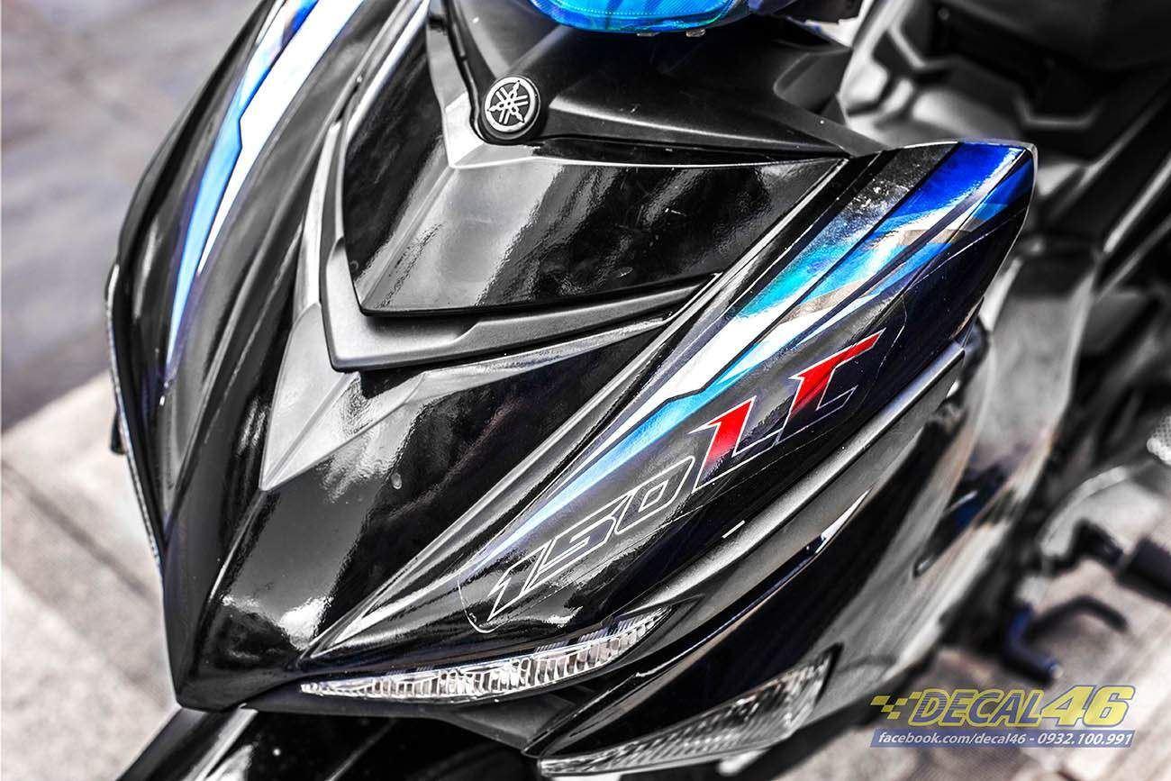 Tem xe Exciter 150 – 348 – Tem xe thiết kế LC xanh đen