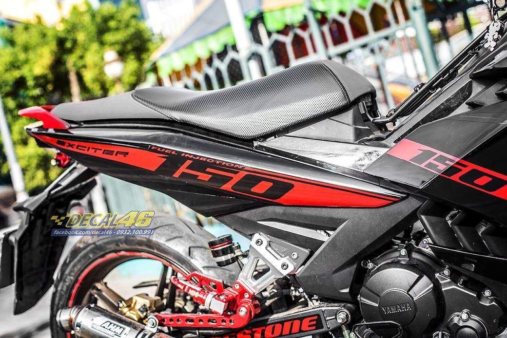 Tem xe Exciter 150 – 363 – Tem xe thiết kế MU 150 đỏ đen