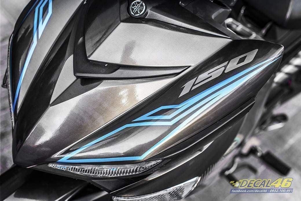 Tem xe Exciter 150 – 364 – Tem xe thiết kế MX King đen xanh ngọc candy