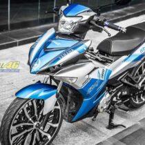 Tem xe Exciter 150 – 371 – Tem xe thiết kế Yamaha xanh bạc
