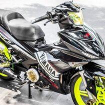 Tem xe Exciter 150 – 346 – Tem xe thiết kế chrome Yamaha vàng đen