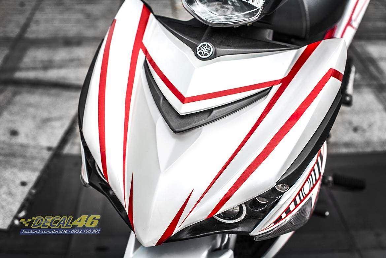Tem xe Exciter 150 – 362 – Tem xe thiết kế Light trắng đỏ