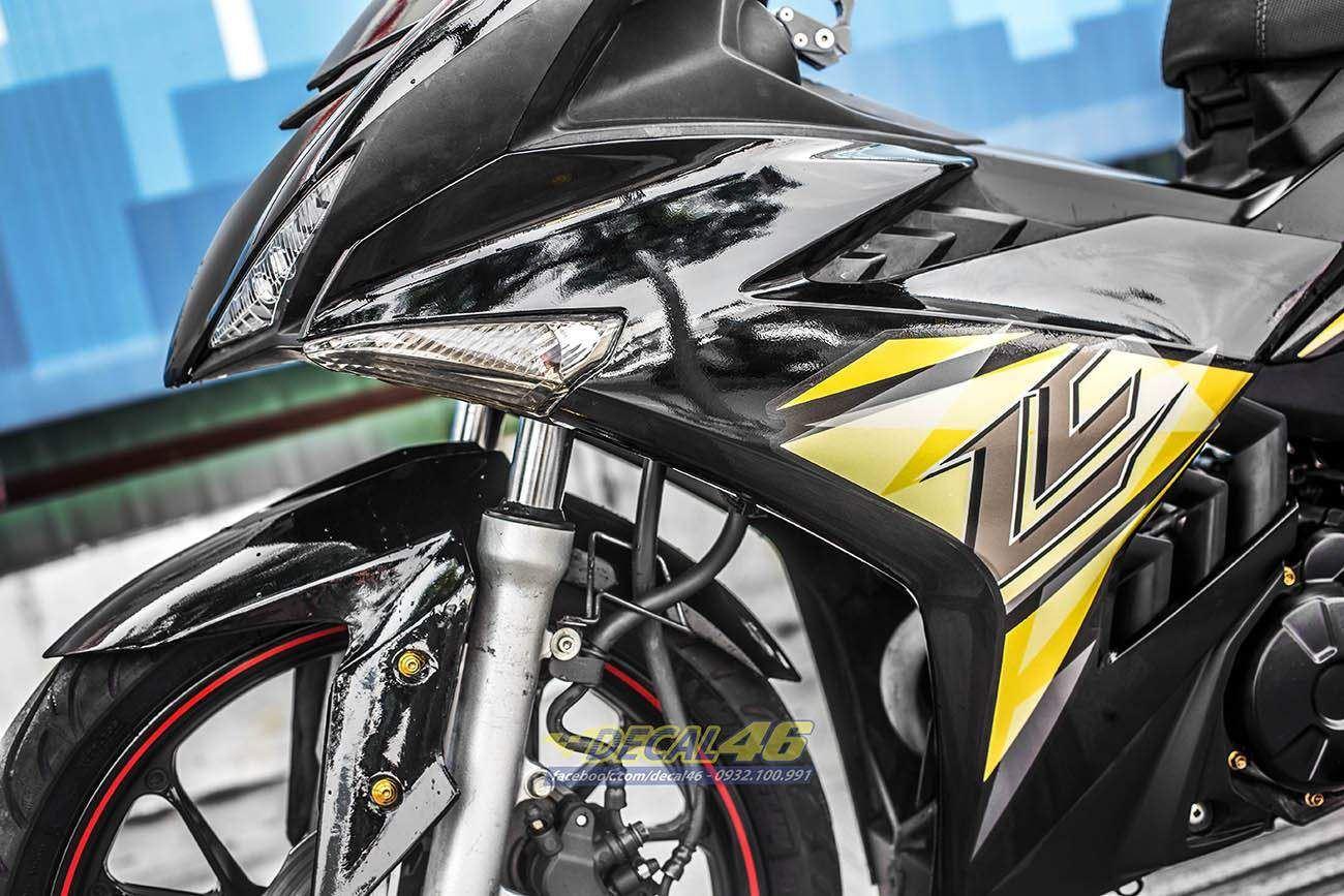 Tem xe Exciter 150 – 351 – Tem xe thiết kế zin LC vàng đen