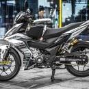 Tem xe Winner 150 – 237 – Tem xe thiết kế Ducati nhôm trắng đen