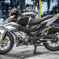 Tem xe Winner 150 - 237 - Tem xe thiết kế Ducati trắng đen