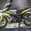 Tem xe Winner 150 - 227 - Tem xe thiết kế Racing vàng đen
